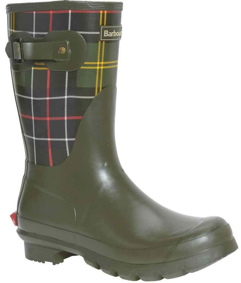 Barbour short classic tartan welly