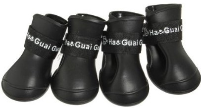 Doggie Style Store Black Waterproof Rain Boots Dog Wellies