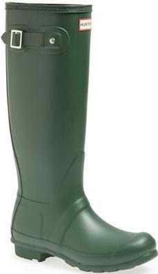 Hunter Original womens green Tall, Women's Rain Boots