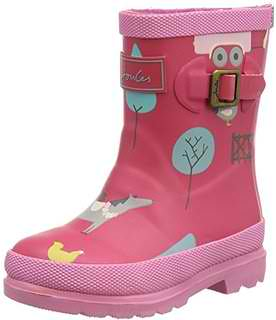 Joules Baby Welly, Girls' Rain Boots, Pink (Pink Gymkhana), 7 Child UK (24 EU)