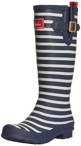 Joules Women's Navy Stripe Welly Print Wellington Boots