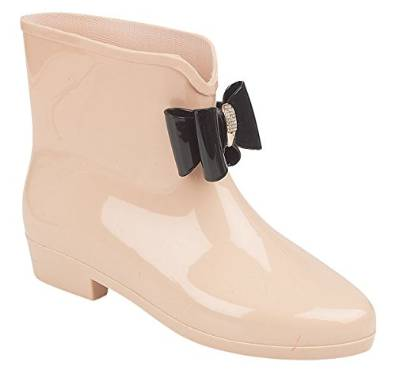 Ladies Wellington Boots Bow Ankle