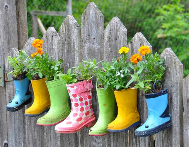 Recycling Your Old Wellies