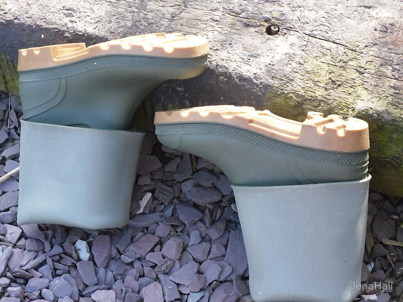 drying wellies