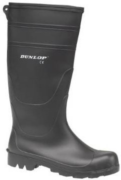 men Dunlop Universal PVC Welly BLACK