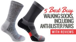 5 Best Buy Walking Socks Inc. Anti-Blister Pairs (With reviews)