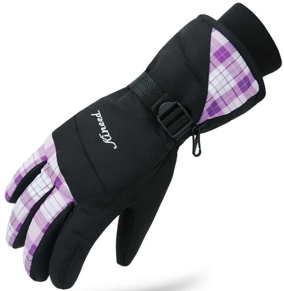KINEED Waterproof Women Ladies Ski Cycling Gloves