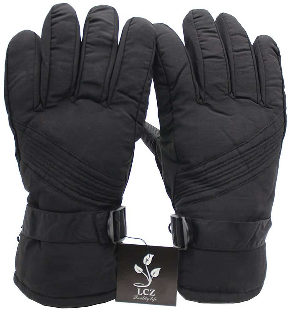 LCZ Ski Gloves Thermal Waterproof Snowproof