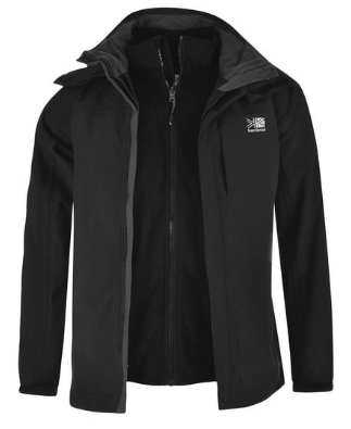 Karrimor Men's 3in1 Jacket Mesh Lining Concealable Hood Water Resistant
