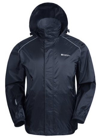Mountain Warehouse Pakka Men's Waterproof Lightweight Packable Rain Running Sports Jacket