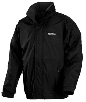 Regatta Mens Dover Jacket Waterproof Fleece Lined Hooded Full Zip