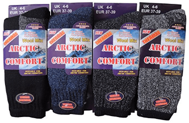 Womens Arctic Comfort Chunky Wool Mix THERMAL socks
