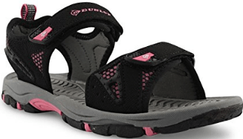 Women's Dunlop Flat Open Toe Velcro Sports Trekking Walking Sandals