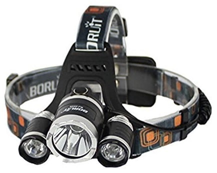 Boruit Rechargeable LED Head Torch Light with 4 Modes
