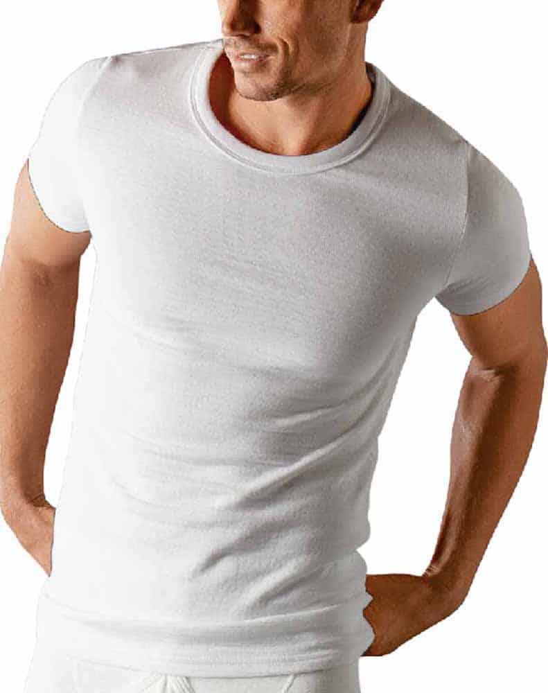 1065aad8bef Classic Men s Base Layer Thermal Short Sleeve T-Shirt Vest Winter Underwear