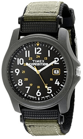 Timex Unisex T42571 Quartz Expedition Camper Watch with Dial Analogue Display and Green/Black Strap