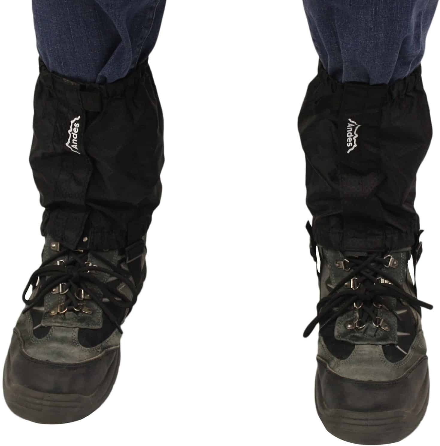 Andes Black Waterproof Outdoor Gaiters