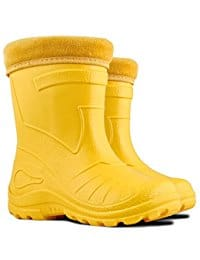 Ultra Light EVA Kids Girls Wellington Boots Yellow