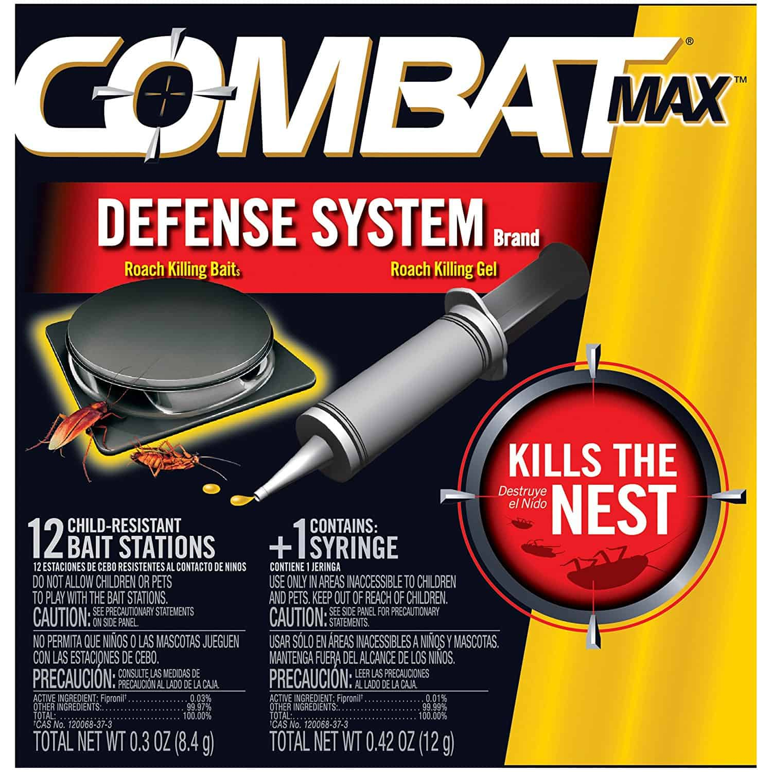Combat Max Defence System Small Roach Killing Bait and Gel