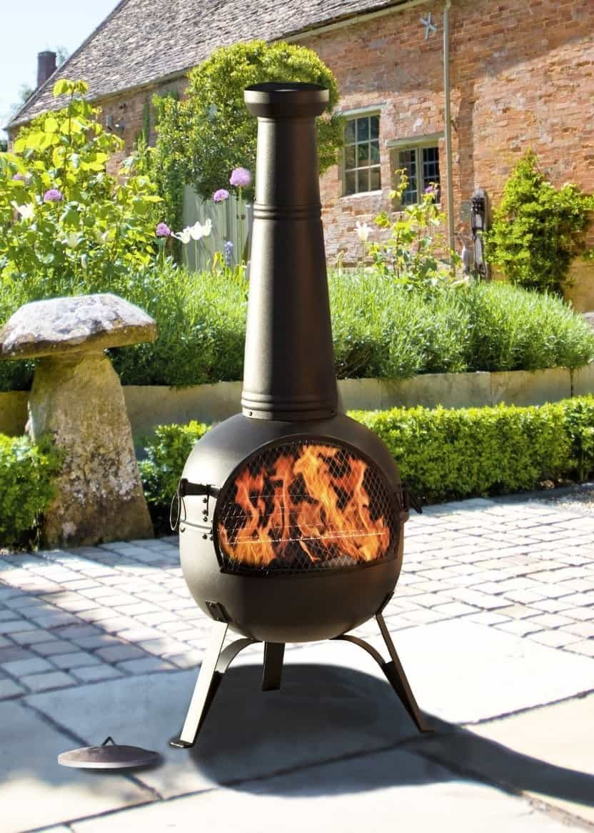 Best Chimenea for Cooking – Oxford Barbecues 56135B X-Large Steel Chimenea