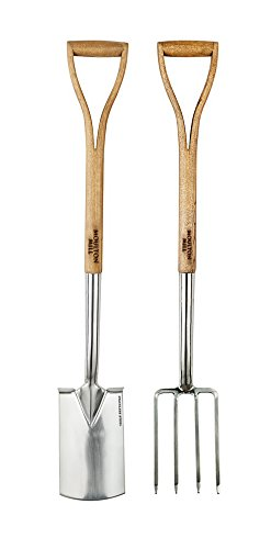 Moulton Mill Stainless Steel Border Spade & Fork Set