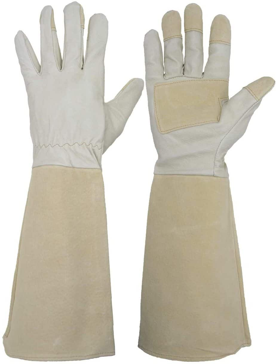 HANDLANDY Long Gardening Gloves for Men and Women